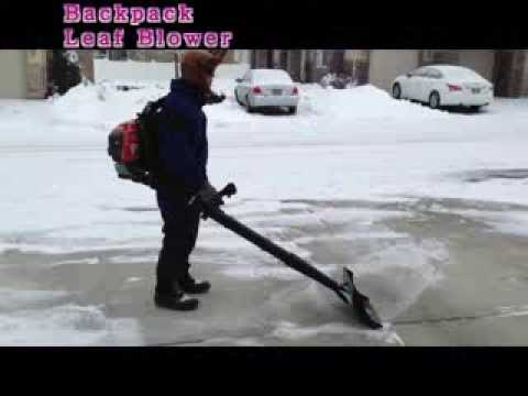 Air Jet Shovel Attached To Backpack Leaf Blower Snow