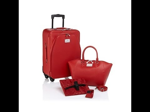 Joy Mangano Chic Carryon Luggage Set With Handbag