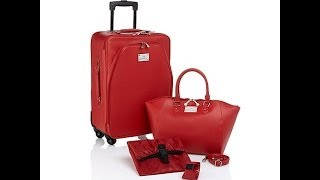 Joy Mangano Chic CarryOn Luggage Set with Handbag