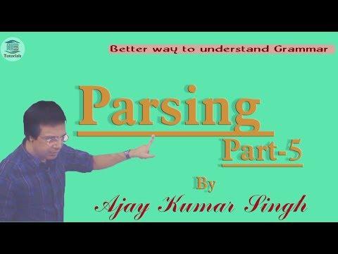 PARSING Part-5 II Ajay Kumar Singh II MB Books