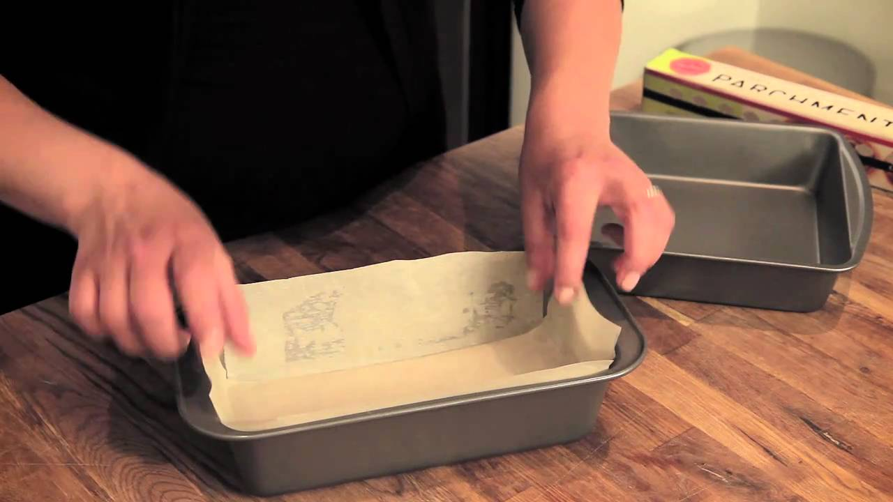 Culinary Parchment 101 Lining A Loaf Pan Youtube