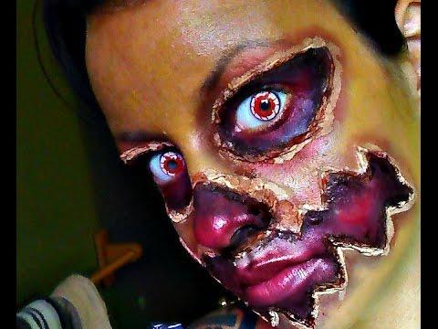 Halloween Series 2015: Human Jack O' Lantern Makeup - 동영상