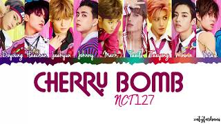 NCT 127 Cherry Bomb Lyrics Color Coded Han Rom