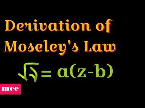 Derivation of Moseley's Law