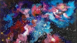 Galaxy Nebula Painting | Beginner Acrylic Tutorial | The Art Sherpa