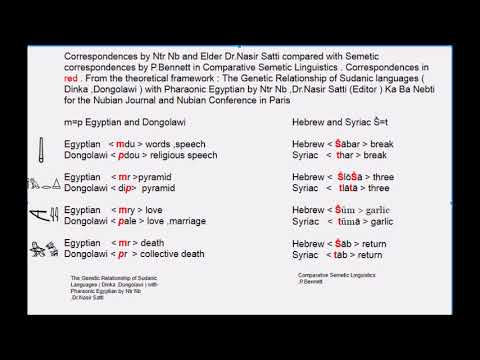 Ancient Egyptian Corresponds with A Black African Language In Sudan (Dongolawi/Nubian)