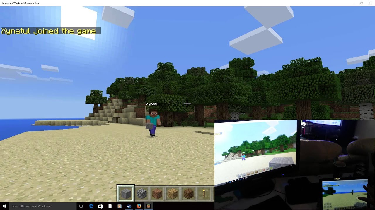 Windows Minecraft And Pocket Edition Via Lan YouTube - Minecraft lan spielen windows 10