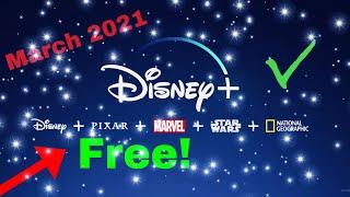 How To Get Disney Plus Free!(March 2021) Crazy Glitch!