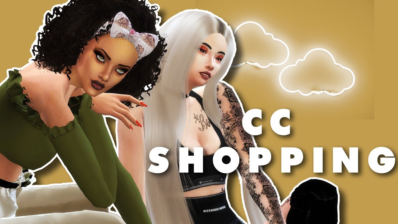 SIMS 4: LETS GO CC SHOPPING + LINKS!