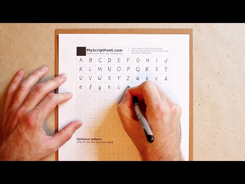 Create A Computer-Ready Font From Your Own Handwriting