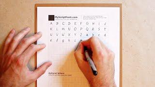 إنشاء جهاز كمبيوتر-على استعداد الخط من الكتابة اليدوية الخاصة بك