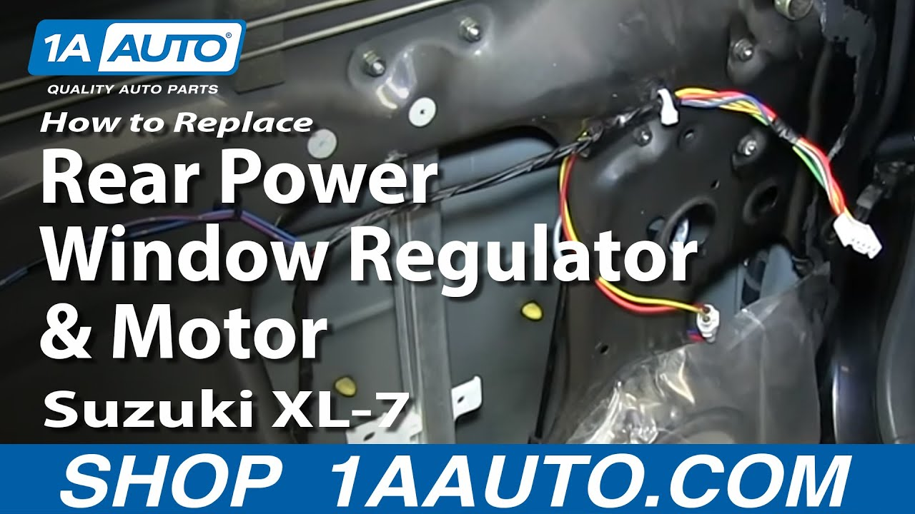 How To Replace Window Regulator 02 06 Suzuki Xl 7 Youtube
