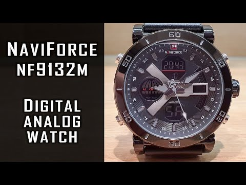 NaviForce Analog-digital Watch NF9132M Full Review #232 #NaviForce #NaviForceWatch #gedmislaguna