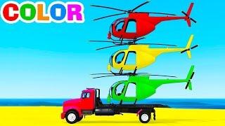 سيارة سبايدر مان مع طائرات الهلوكوبتر المضحكة والالوان الرائعة