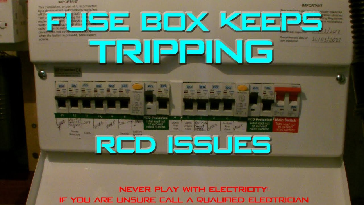 fuse box keeps tripping turning off rcd no electricity youtube
