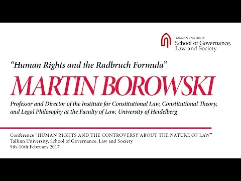 Martin Borowski - Human Rights and the Radbruch Formula