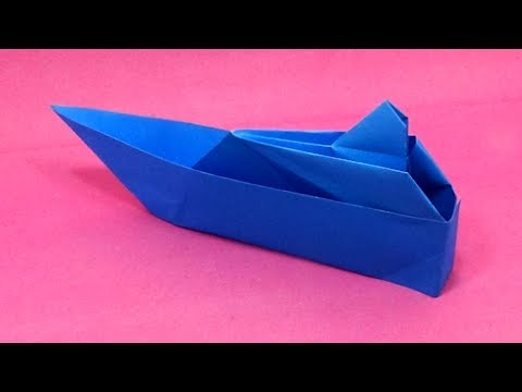 DIY paper boat idea - how to make easy origami paper folding boat/ship tutorial