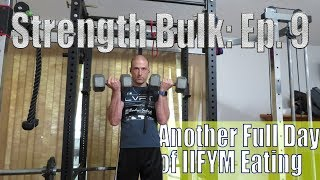 Another Full Day of IIFYM Eating (2864 Calories) | Biceps & Triceps Workout | Strength Bulk Ep. 9