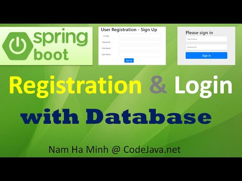 Spring Boot Registration And Login With MySQL Database, Bootstrap And HTML5
