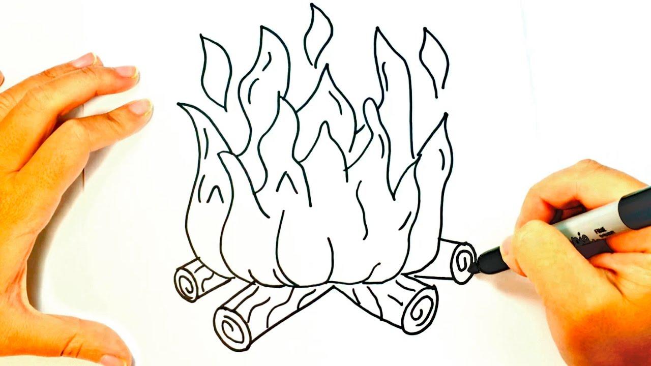 Trago De Fuego Para Dibujar