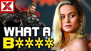 Brie Larson Goes CRAZY on Chris Hemsworth, Captain Marvel Gone To This