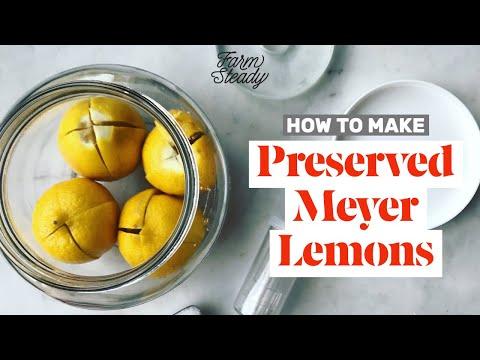 How To Make Preserved Meyer Lemons