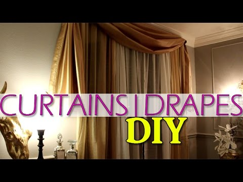 DIY | Custom Swag Drapes | My first sewing experience!