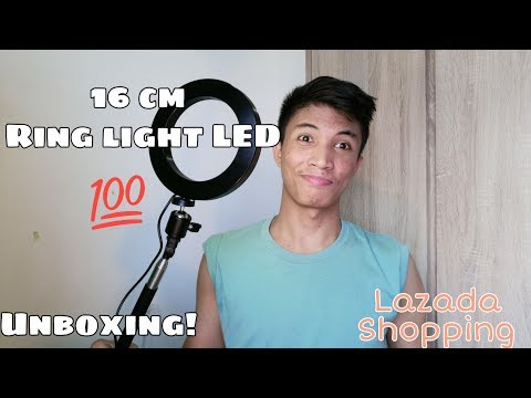UNWRAPPING AND UNBOXING LAZADA SHOPPING | 16 Cm Ring Light LED! | MarkyVlogs | Vlog #12 | Click FHD thumbnail