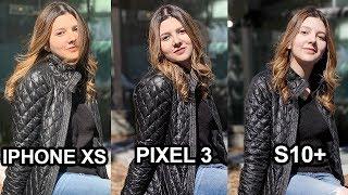 Samsung Galaxy S10 Plus Camera Vs. Pixel 3 Vs. iPhone Xs! Video