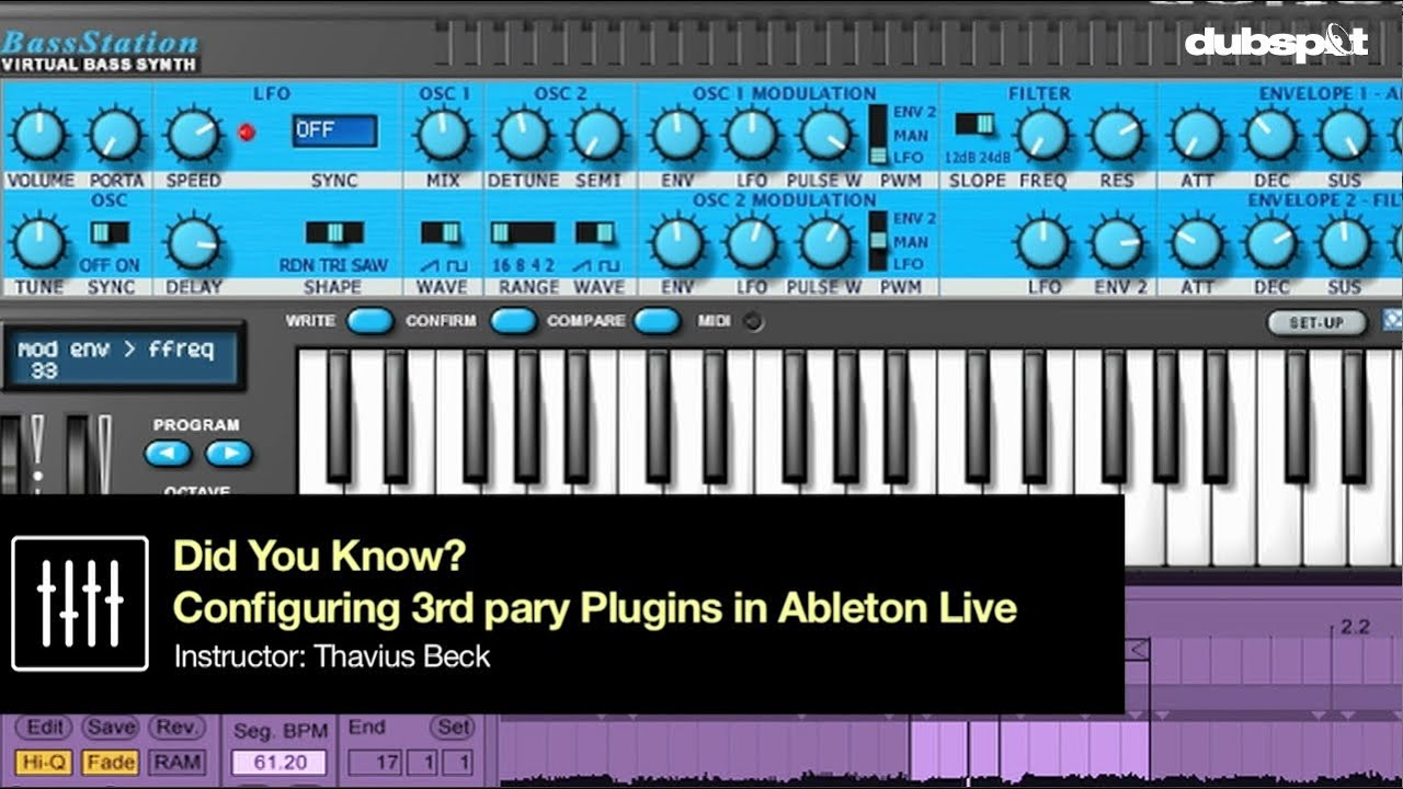Ableton Live Tips w/ Thavius Beck Pt 15 - Configuring 3rd Party Plugins -  'Did You Know?'
