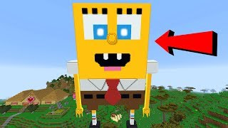 MEGA SPONGEBOB TAKES OVER MINECRAFT!!!