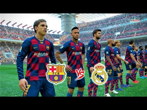 PES 2019 | Barcelona Vs Real Madrid | Potential Lineup 2019/20 | El Clasico