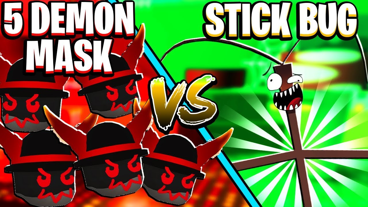 5 Demon Masks Vs Stick Bug In Roblox Bee Swarm Simulator - roblox top 5 doge items youtube