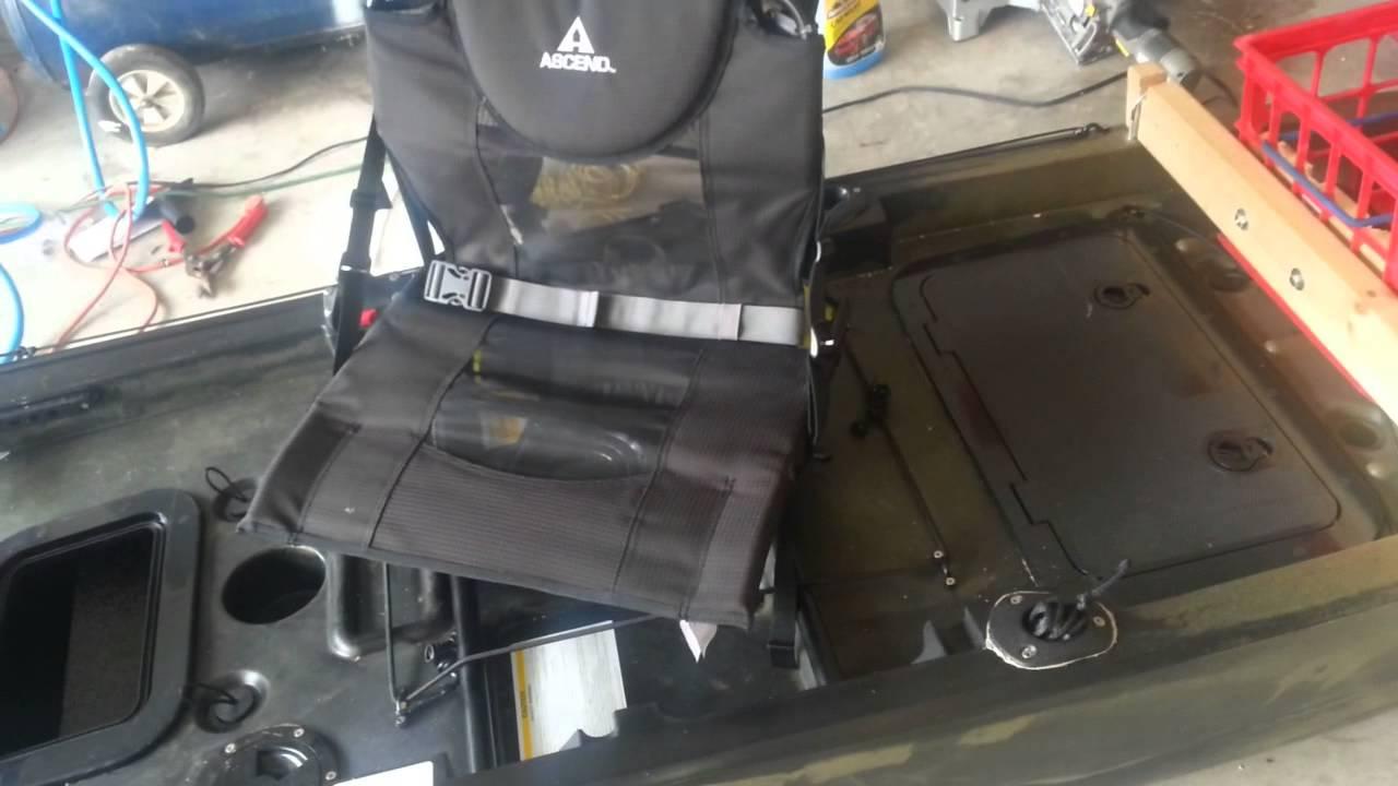 Ascend fs128t kayak youtube for Ascend 12t trolling motor