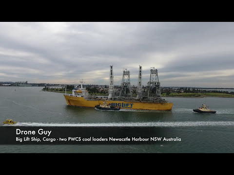Dji Phantom 4 Big Lift Ship Newcastle Harbour NSW Australia Drone Guy