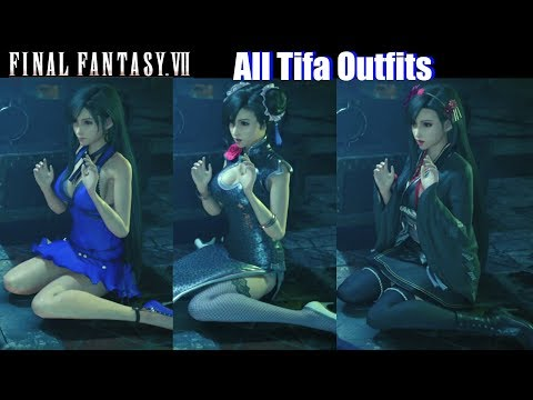 FFVII All Tifa Outfits & Costumes – Final Fantasy VII Remake 2020