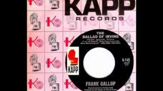 Frank Gallop - THE BALLAD OF IRVING  (1966)