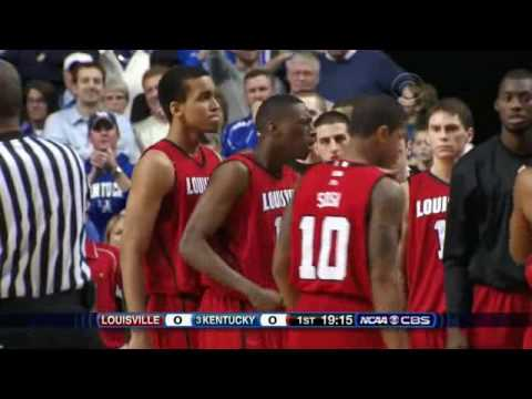 Demarcus Cousins forearm to the face of a Louisville player!  Christian Laettner should be proud.