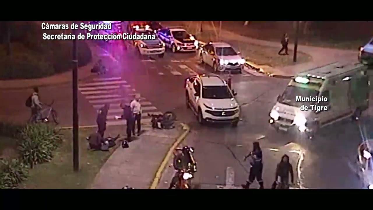 Seguridad vial las cámaras del COT permitieron brindar asistencia inmediata en un accidente de trans