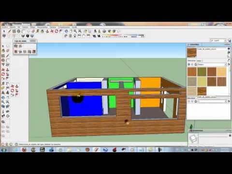 como hacer una casa en sketchup 8 youtube. Black Bedroom Furniture Sets. Home Design Ideas