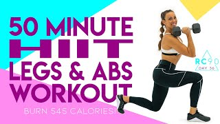 50 Minute HIIT Legs and Abs Workout! 🔥Burn 545 Calories!* 🔥Sydney Cummings
