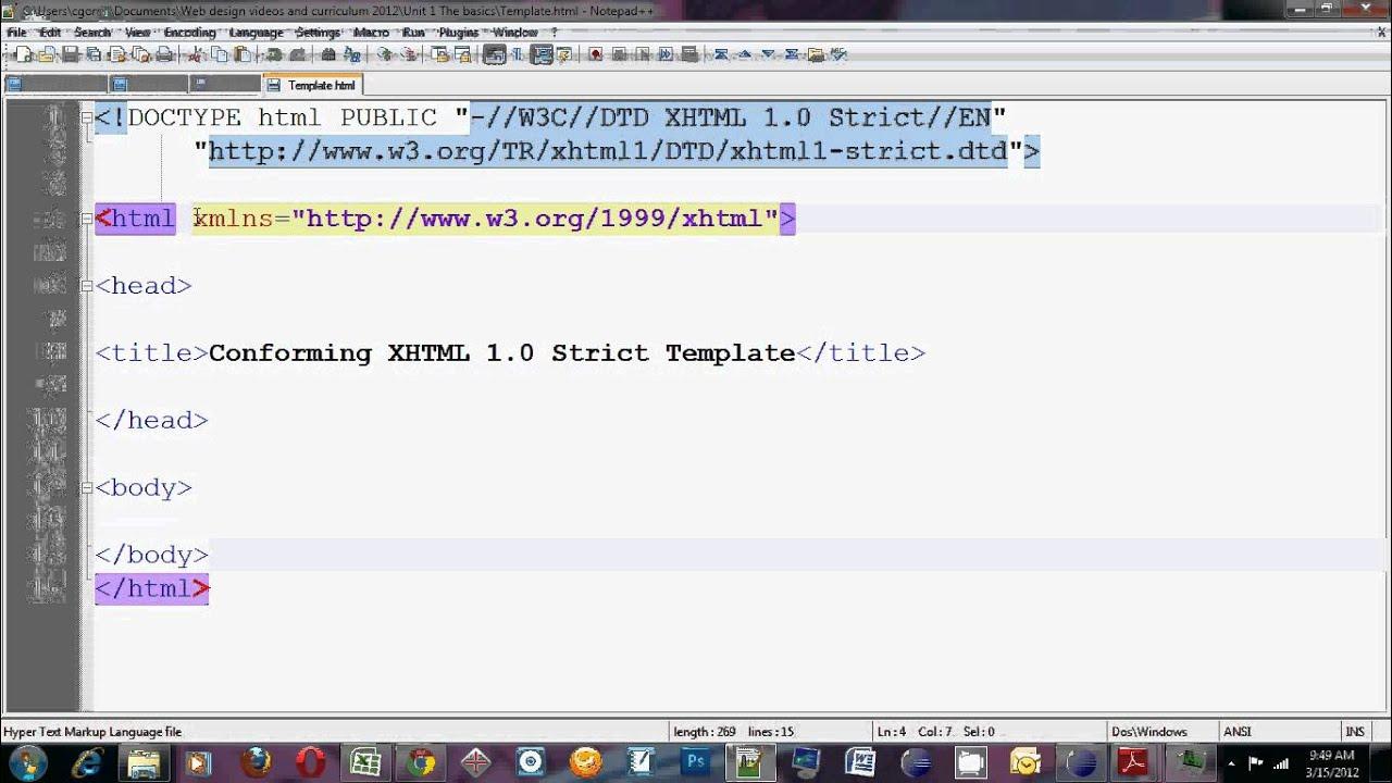 Intro to HTML tutorial