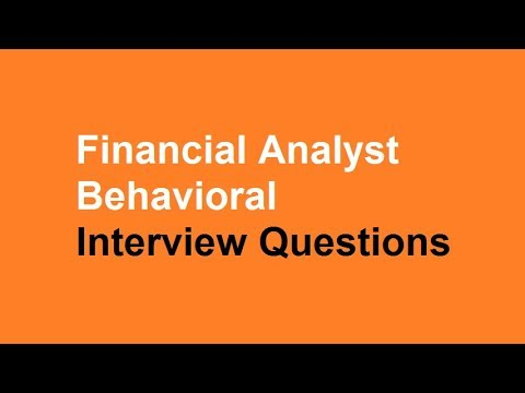 Financial analyst behavioral interview questions - YouTube
