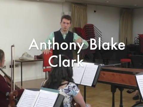 Anthony Blake Clark Birmingham University Sinfonia rehearsals