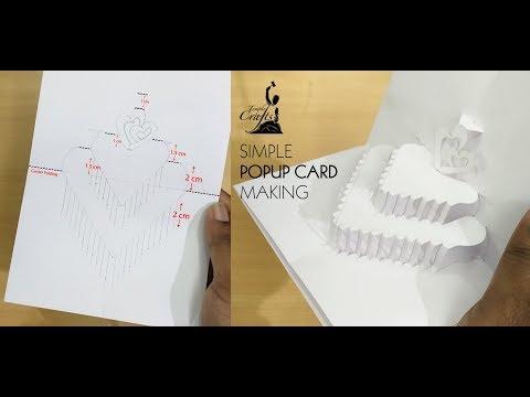 Simple Popup Card Making | Handmade Craft | Mahesjeevan | Temple Crafts | DIY