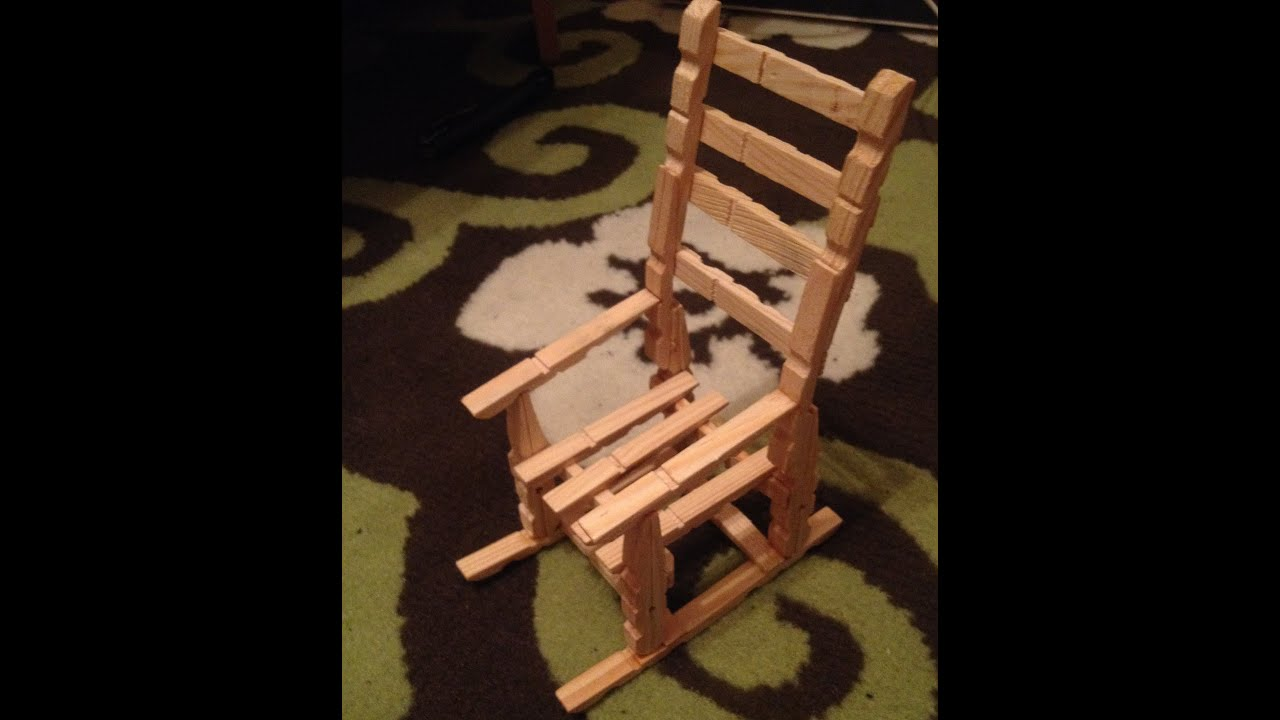 How To Make A Wooden Chair Shower Malaysia Mini From Clots Clips Youtube