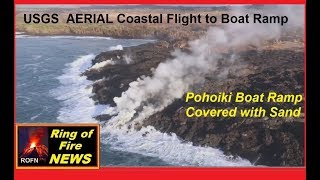 Hawaii Kilauea Volcano USGS AERIAL Coastal Flight