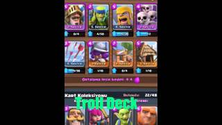 Clash Royal Arena 3 Troll Deste