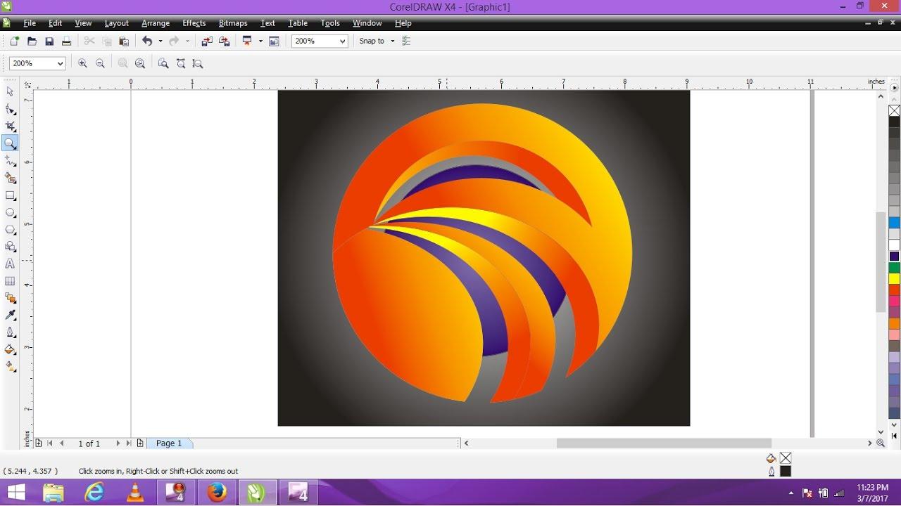 Coreldraw x4 windows 10 - Shining Inspiral Circle Logo In Corel Draw X4