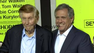 Sumner Redstone, Les Moonves at Seven Psychopaths Los Ang...